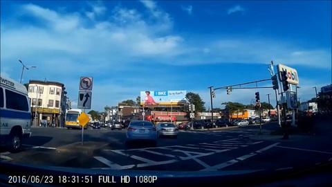 Dash Cam Footage of Car Accident Pedestrian Runs into Traffic Gets Launched and Walks Away