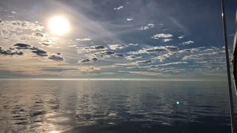 the calming sea