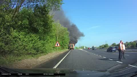 A47 Norwich truck fire